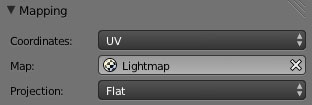 Blender. Set Lightmap as UV Map